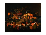 Still Life: the Abundance of Fruit Reproduction procédé giclée par Severin Roesen