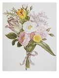 Still Life of Lilacs, Roses, Buttercups and Lilies of the Valley by Jean Louis Prevost Giclee Print by  Bettmann
