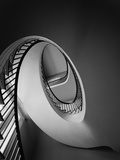 Spiral Staircase in Nathaniel Russell House Fotografie-Druck von G.E. Kidder Smith