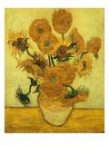 Solrosor Gicléetryck av Vincent van Gogh