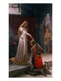 El espaldarazo Lámina giclée por Leighton, Edmund Blair
