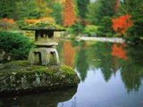 Stone Lantern in the Japanese Tea Garden at the University of Washington Arboretum Photographic Print by Philip James Corwin