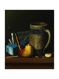 Still Life with Pipe, Mug, and Newspaper Giclee Print by William Michael Harnett