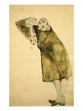 Sleeping Girl Giclee Print by Egon Schiele