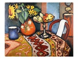 Nature morte avec tournesols II Reproduction procédé giclée par August Macke
