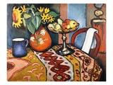 Stillleben mit Sonnenblumen II Giclée-Druck von August Macke