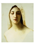 Study of a Woman's Head for Charity Reproduction procédé giclée par William Adolphe Bouguereau