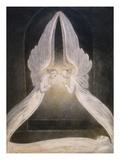 Los ángeles pasando sobre el cuerpo de Jesús en el Sepulcro Lámina giclée por William Blake