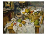 Still Life With a Basket Giclee Print by Paul Cézanne