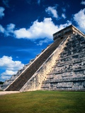 Stairway of the Pyramid of Kukulkan, in Mexico Photographic Print by Mark Karrass