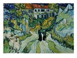 Escaliers à Auvers Reproduction procédé giclée par Vincent van Gogh