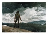 Il boscaiolo Stampa giclée di Winslow Homer