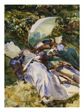 The Green Parasol Giclée-Druck von John Singer Sargent