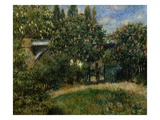 The Railway Bridge at Chatou Giclee Print by Pierre Auguste Renoir