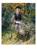 The Girl at the Bank Giclee Print by Pierre-Auguste Renoir