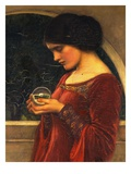 La bola de cristal Lmina gicle por John William Waterhouse