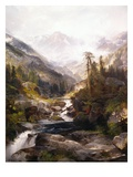 The Mountain of the Holy Cross Giclée-tryk af Thomas Moran