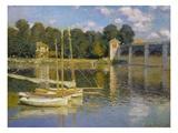 El puente en Argenteuil Lámina giclée por Claude Monet