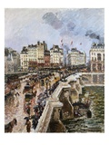 The Pont-Neuf, Afternoon of Rain Giclee Print by Camille Pissarro