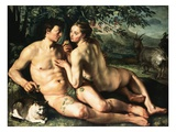 The Fall of Man Giclee Print by Hendrick Goltzius