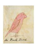 The Pink Bird Giclée-Druck von Edward Lear
