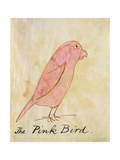 The Pink Bird Premium Giclee Print by Edward Lear