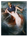The Fisherman and the Siren Giclee Print by Knut Ekvall