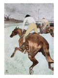 The Jockey Giclee Print by Henri de Toulouse-Lautrec