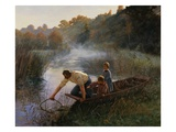 The Fisherman's Family in the Paddock Giclée-tryk af Pierre Andre Brouillet