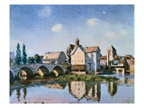 The Moret Bridge in the Sun Giclee Print by Alfred Sisley