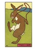The March Hare Giclee Print by  Lake County Museum