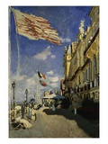 The Hotel des Roches-Noires, Trouville Giclee Print by Claude Monet