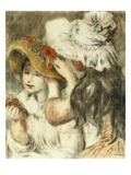The Epinglae Hat, on Planche Giclee Print by Pierre Auguste Renoir