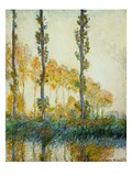 Three Trees, Autumn Giclee Print by Claude Monet