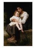 La hermana mayor Lámina giclée por William Adolphe Bouguereau