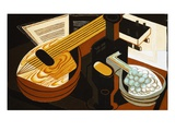 The Mandolin Impresso gicle por Juan Gris