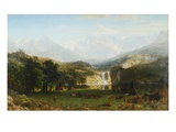 The Rocky Mountains, Lander's Peak Giclee Print by Albert Bierstadt