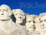 We the People Above Mount Rushmore Lmina fotogrfica por Joseph Sohm