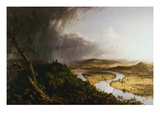 View from Mount Holyoke, Northampton, Massachusetts, after a Thunderstorm - The Oxbow Giclee Print by Thomas Cole