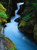 Waterfall in Avalanche Gorge Photographic Print