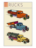 Trucks Giclee Print by Steve Collier