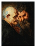 Two Saints Giclee Print by Sir Peter Paul Rubens