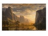 Valle de Yosemite Lámina giclée por Albert Bierstadt