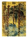 Venetian Scene Giclee Print by Maurice Brazil Prendergast