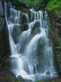 Waterfall Cascading over Rocks Photographic Print by Jagdish Agarwal