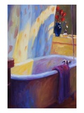 Tub and Tulips II Giclee Print by Pam Ingalls