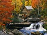 Glade Creek Grist Mill Fotografisk tryk af Robert Glusic