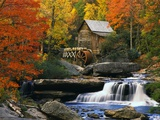 Glade Creek Grist Mill Fotoprint van Robert Glusic