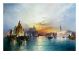 Venise Reproduction procédé giclée par Thomas Moran