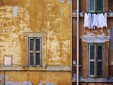 Wall of Building in Rome Fotografie-Druck
